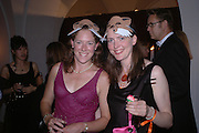 Tory Stewart and Ellie Thorneycroft .  Connaught Square Squirrel Hunt Inaugural Hunt Ball. Banqueting House, Whitehall. 8 September 2005. ONE TIME USE ONLY - DO NOT ARCHIVE  © Copyright Photograph by Dafydd Jones 66 Stockwell Park Rd. London SW9 0DA Tel 020 7733 0108 www.dafjones.com