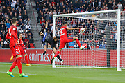 Marcos Aoas Correa dit Marquinhos (PSG) scored a goal from the decisive ball gaved from Giovani Lo Celso (PSG), Abdelhamid EL KAOUTARI (SC Bastia), Julian Draxler (PSG) during the French championship Ligue 1 football match between Paris Saint-Germain (PSG) and Bastia on May 6, 2017 at Parc des Princes Stadium in Paris, France - Photo Stephane Allaman / ProSportsImages / DPPI