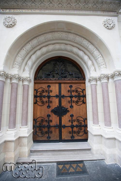Closed entrance of Greek Catholic Church in Zagreb; Church