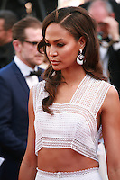 Joan Smalls at the gala screening for the film Youth at the 68th Cannes Film Festival, Wednesday May 20th 2015, Cannes, France.