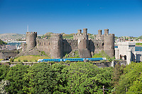 Arriva Trains Wales<br /> Conwy Castle<br /> Conwy<br /> North<br /> Rail<br /> Transport