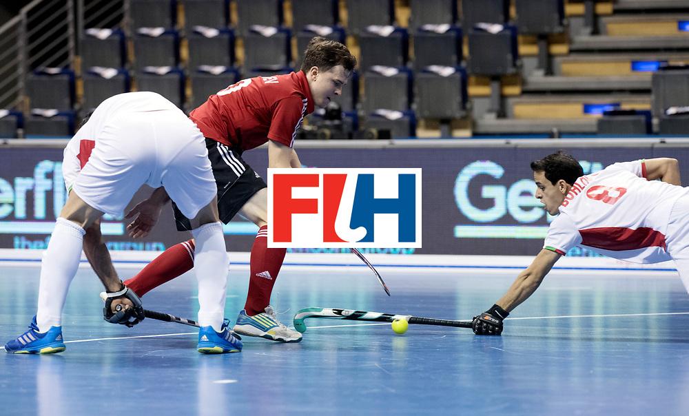 BERLIN - Indoor Hockey World Cup<br /> Men: Iran - Russia<br /> foto: GOLUBEV Pavel and BOHLOULI Mohsen.<br /> WORLDSPORTPICS COPYRIGHT FRANK UIJLENBROEK