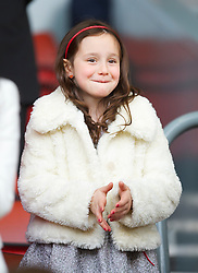 LIVERPOOL, ENGLAND - Sunday, March 28, 2010: A daughter of Liverpool's manager Rafael Benitez during the Premiership match at Anfield. (Photo by: David Rawcliffe/Propaganda)