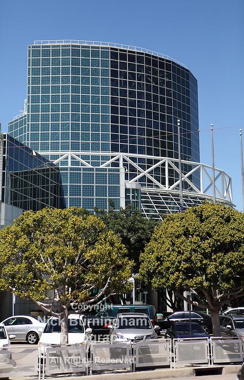 LOS ANGELES, CALIFORNIA, USA - April 16, 2013 - The Convention Center in Downtown Los Angeles on April 16, 2013.  The annex designed by architect James Ingo Freed – makes the total space 720,000 sq ft