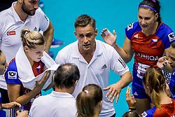 22-08-2017 NED: World Qualifications Belgium - Czech Republic, Rotterdam<br /> Coach Zdenek Pommer CZE