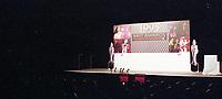 Press Room Branding, The BRIT Awards 1995 <br /> Monday 20 Feb 1995.<br /> Alexandra Palace, London, England<br /> Photo: JM Enternational