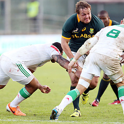 PADUA, ITALY - NOVEMBER 22: Coenie Oosthuizen of South Africa on attack during the Castle Lager Outgoing Tour match between Italy and South African at Stadio Euganeo on November 22, 2014 in Padua, Italy. (Photo by Steve Haag/Gallo Images)