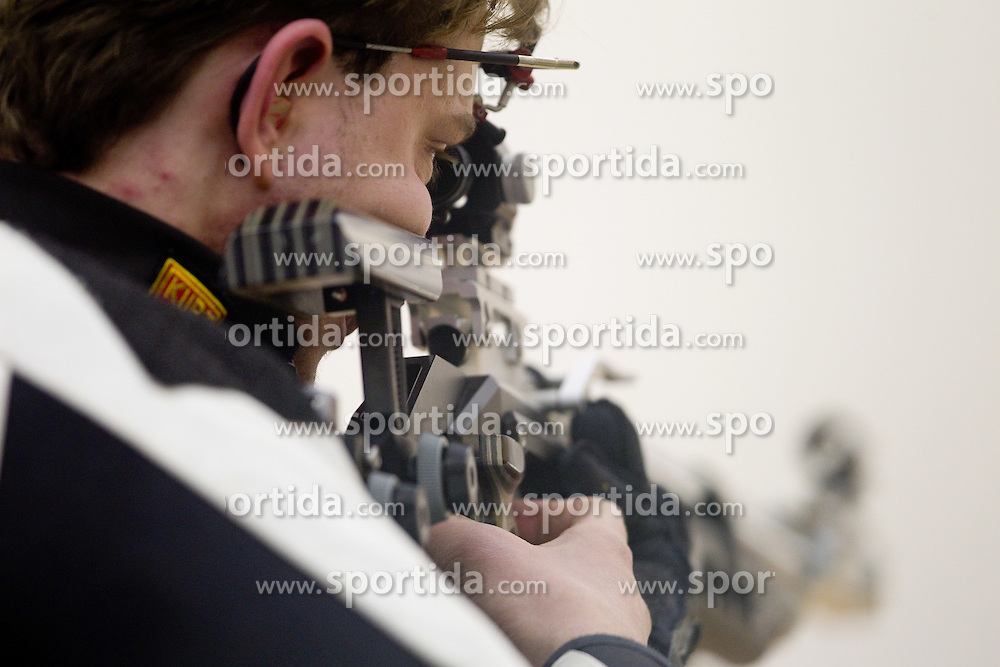 Matic Baric of Slovenia  during International Air Rifle and Air Pistol competition Ruse 2011, on January 16, 2011 in Ruse at Maribor, Slovenia. (Photo By Vid Ponikvar / Sportida.com)