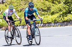 10.07.2019, Fuscher Törl, AUT, Ö-Tour, Österreich Radrundfahrt, 4. Etappe, von Radstadt nach Fuscher Törl (103,5 km), im Bild v.l.: Ben O'Connor (Team Dimension Data, AUS), Winner Andrew Anacona Gomez (Movistar Team, COL) // during 4th stage from Radstadt to Fuscher Törl (103,5 km) of the 2019 Tour of Austria. Fuscher Törl, Austria on 2019/07/10. EXPA Pictures © 2019, PhotoCredit: EXPA/ JFK