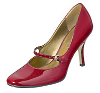 Anne Klein Patent Leather Red Mary Jane High Heel