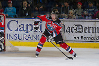 KELOWNA, CANADA - DECEMBER 8:  Cole Martin #8 of the Kelowna Rockets looks for the pass against the Prince George Cougars at the Kelowna Rockets on December 8, 2012 at Prospera Place in Kelowna, British Columbia, Canada (Photo by Marissa Baecker/Shoot the Breeze) *** Local Caption ***