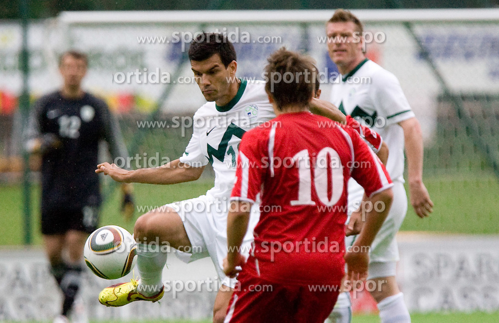 Aleksander Radosavljevic of Slovenia at football match between National team of Slovenia and FC Sud Tirol  on May 29, 2010, at Sports park Riscone, in Brunico / Bruneck, Italy. Slovenia won 3-0. (Photo by Vid Ponikvar / Sportida)