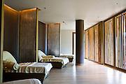 Men's relaxing room at Espa spa.