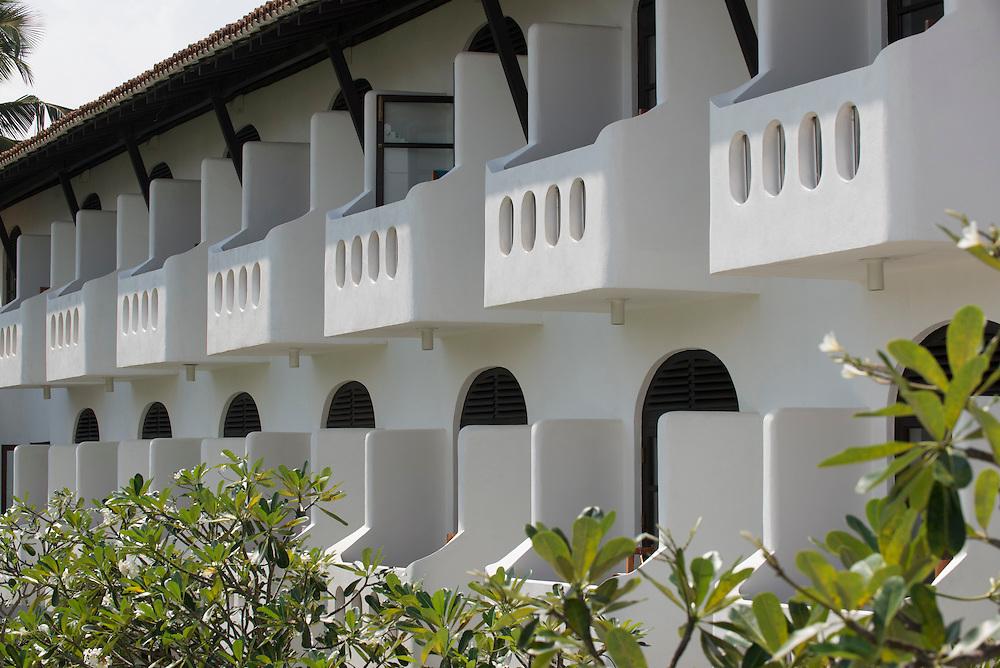 The Neptune Hotel<br /> First built 1974; remodeled in 2010<br /> (aka Heritance Ayurveda Maha Gedara) Beruwela<br /> Sri Lanka <br /> Geoffrey Bawa