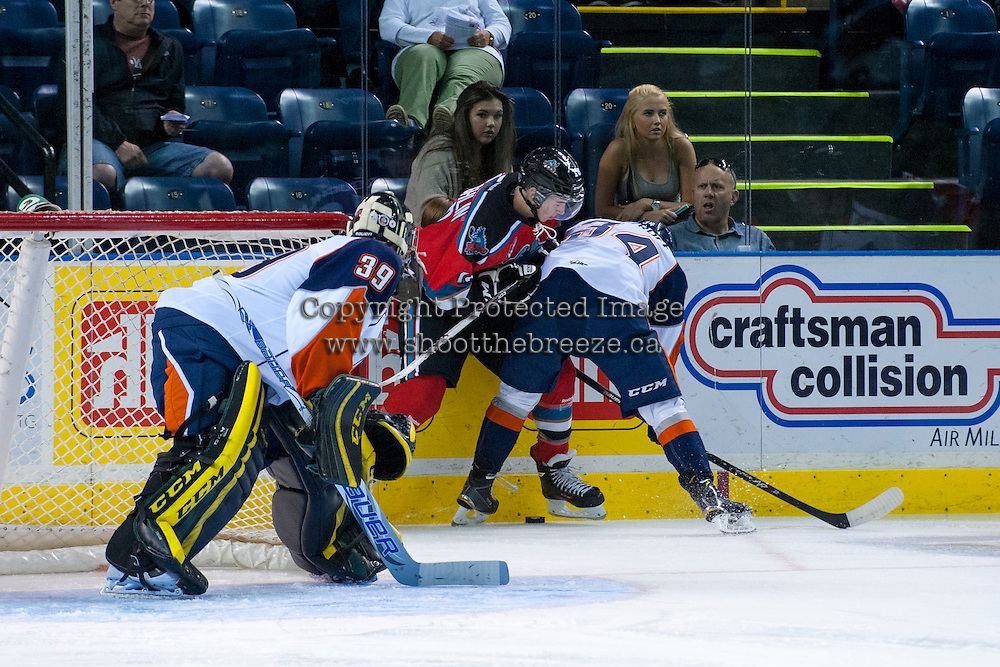 KELOWNA, CANADA - AUGUST 30:   on August 30, 2014 during pre-season at Prospera Place in Kelowna, British Columbia, Canada.   (Photo by Marissa Baecker/Shoot the Breeze)  *** Local Caption ***