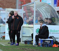 Mansfield Town manager Steve Evans gives orders from the side line - Mandatory by-line: Nizaam Jones/JMP- 04/03/2017 - FOOTBALL - LCI Rail Stadium - Cheltenham, England - Cheltenham Town v Mansfield Town -Sky Bet League Two