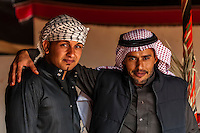 Bedouin men, Captain's Desert Camp, Wadi Rum (in the Arabian Desert), Jordan