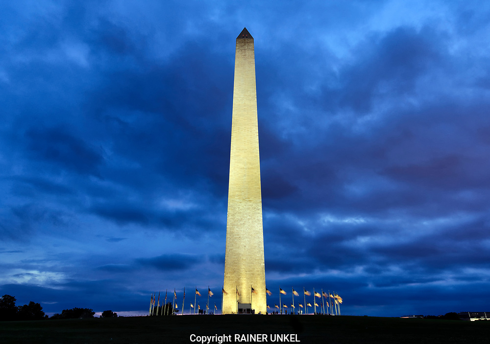 USA : Das Washington Monument in Washington , 23.05.2017<br />  |USA : Washington Monument in Washington , 23.05.2017|<br />  Copyright by Rainer UNKEL