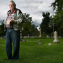 "Allan McKenney holds a GAR or Grand Army of the Republic grave marker which he placed at the site of the unmarked grave of Union soldier William Mole at Pioneer Cemetery in Boise, Idaho. Allan McKenney is a man on a mission. Back in 2008, he campaigned to get the veterans administration to provide a headstone for an unmarked Civil War grave at Morris Hill Cemetery. Now, he's trying to get recognition for what he calls the ""Boise Seven"" -- seven more graves of Civil War soldiers, one at Pioneer Cemetery, the other six at Military Reserve. He's done the research. He and the city have submitted the forms. They're waiting to see if the VA will come through again to provide the stones. Wednesday May 20, 2015"