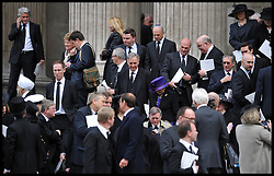 Jonathan  Aitken attends Lady Thatcher's funeral at St Paul's Cathedral following her death last week, London, UK, Wednesday 17 April, 2013, Photo by: Andrew Parsons / i-Images