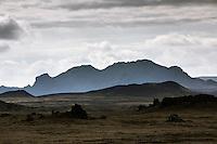 Krókagiljabrúnri on route Landmannaleið. Mount Hestalda in background. Interior of Iceland. Við Krókagiljabrúnir á Landmannaleið. Hestalda í baksýn.