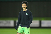Forest Green Rovers Seung Woo Yang(42) during the FA Youth Cup match between Forest Green Rovers and Helston Athletic at the New Lawn, Forest Green, United Kingdom on 29 October 2019.