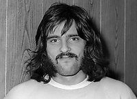 Trevor McCullough, footballer, Glentoran FC, Belfast, N Ireland, October, 1972, 197210280681<br /> <br /> Copyright Image from Victor Patterson, 54 Dorchester Park, <br /> Belfast, UK, BT9 6RJ<br /> <br /> t1: +44 28 9066 1296 (from Rep of Ireland 048 9066 1296)<br /> t2: +44 28 9002 2446 (from Rep of Ireland 048 9002 2446)<br /> m: +44 7802 353836<br /> <br /> e1: victorpatterson@me.com<br /> e2: victorpatterson@gmail.com<br /> <br /> www.victorpatterson.com<br /> <br /> Please see my Terms and Conditions of Use at www.victorpatterson.com. It is IMPORTANT that you familiarise yourself with them.<br /> <br /> Images used on the Internet must be visibly watermarked i.e. © Victor Patterson within the body of the image and copyright metadata must not be deleted. Images used on the Internet have a size restriction of 4kbs and will be chargeable at current NUJ rates unless agreed otherwise.<br /> <br /> This image is only available for the use of the download recipient i.e. television station, newspaper, magazine, book publisher, etc, and must not be passed on to any third party. It is also downloaded on condition that each and every usage is notified within 7 days to victorpatterson@me.com<br /> <br /> The right of Victor Patterson to be identified as the author is asserted in accordance with The Copyright Designs And Patents Act (1988).