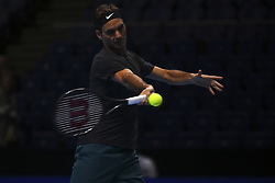 November 16, 2017 - London, England, United Kingdom - Roger Federer of Switzerland in action during a training session on day five of Nitto ATP World Tour Finals at the O2 Arena, London on November 16, 2017. (Credit Image: © Alberto Pezzali/NurPhoto via ZUMA Press)