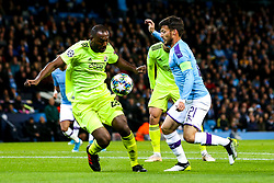 David Silva of Manchester City takes on Kevin Theophile-Catherine of Dinamo Zagreb - Mandatory by-line: Robbie Stephenson/JMP - 01/10/2019 - FOOTBALL - Etihad Stadium - Manchester, England - Manchester City v Dinamo Zagreb - UEFA Champions League Group Stage