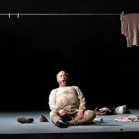 Picture shows : Peter Sidhom as Sir John Falstaff in Scottish Opera's new production of  Giuseppe Verdi's Falstaff...Picture  ©  Drew Farrell Tel : 07721 -735041.Scottish Opera's new production of  Giuseppe Verdi's Falstaff..Dominic Hill, Artistic Director of the Traverse Theatre, directs this new production in the finest Verdi tradition. Conducted by Peter Robinson (except 21 June - Derek Clark ).( Sung in Italian with English subtitles).Based on a character in Shakespeare?s The Merry Wives of Windsor, Sir John Falstaff?s larger than life appetites and self-indulgences strike a chord of universal recognition. There?s something of him in everyone, allowing both laughter at and a degree of sympathy for an otherwise lecherous character...Sir John Falstaff  -  Peter Sidhom.Fenton    -     Federico Lepre.Ford    -       William Dazeley.Dr Caius  -     Peter Van Hulle.Bardolfo    -   Alasdair Elliott.Pistola   -     Giles Tomkins.Alice Ford  -   Maria Costanza Nocentini.Nannetta   -    Lucy Crowe.Mistress Page - Leah Marian Jones.Dame Quickly  -     Sally Burgess..Conductors.Peter Robinson (except 21 June).Derek Clark (21 June).Director.Dominic Hill.Designer.Tom Piper.Lighting.Ben Ormerod..Performances :.Theatre Royal. Glasgow, 13 ? 15 ? 17 ? 21 ? 24* May.His Majesty?s Theatre, Aberdeen 5 ? 7 Jun.Eden Court, Inverness 12 ? 14 Jun.Edinburgh Festival Theatre 18 ? 21* ? 26 ? 28 Jun..Note to Editors:  This image is free to be used editorially in the promotion of Scottish Opera. Without prejudice ALL other licences without prior consent will be deemed a breach of copyright under the 1988. Copyright Design and Patents Act  and will be subject to payment or legal action, where appropriate..Further further information please contact Kerryn Hurley Scottish Opera Press Manager t:   0141 242 0511.