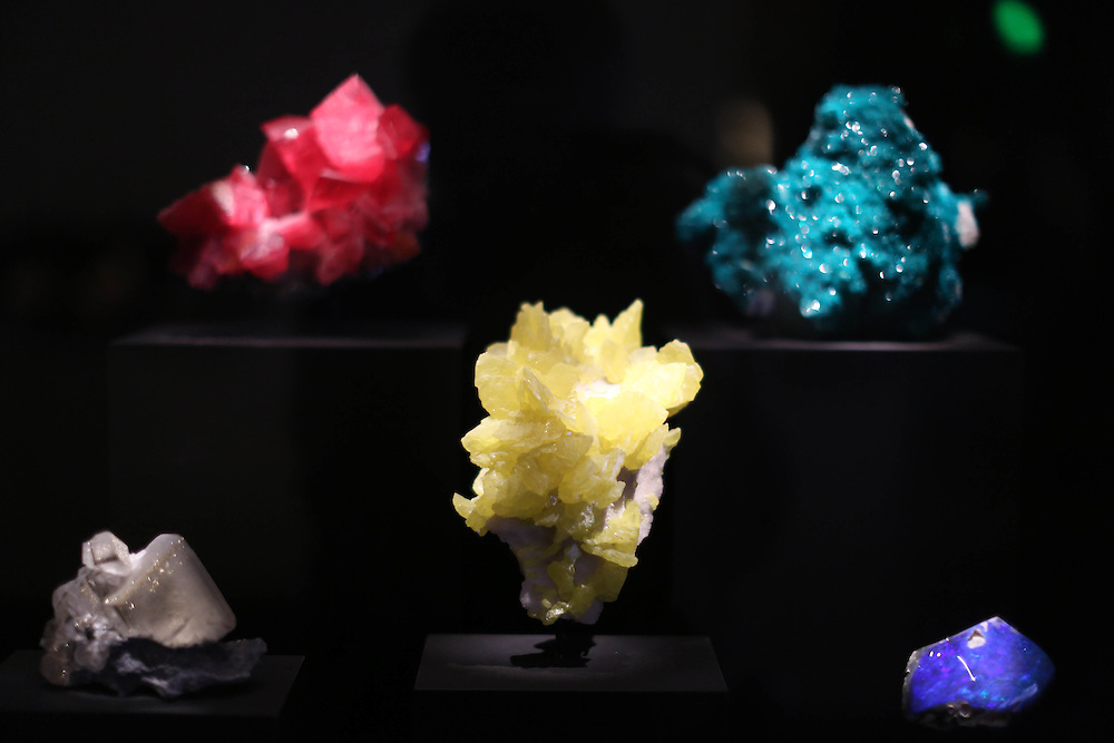 Exquisite crystals on display in the  Lyda Hill Gems and Minerals Hall  at the Perot Museum of Science and Nature in Dallas, Texas.