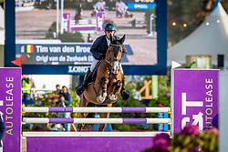 Van den Broeck Tim, BEL, Origi van de Zeshoek<br /> FEI WBFSH Jumping World Breeding Championship for young horses Zangersheide Lanaken 2019<br /> © Hippo Foto - Dirk Caremans