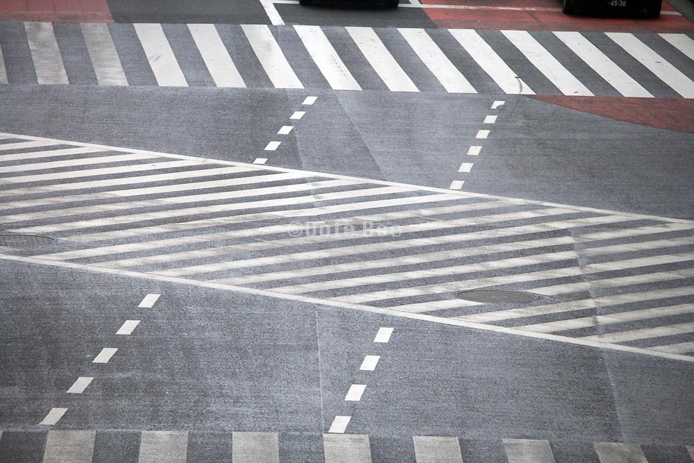 empty Hachiko pedestrian crossing in Shibuya Tokyo