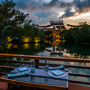 Saffron Restaurant at the Banyan Tree hotel. Mayakoba. Riviera Maya. Mexico.