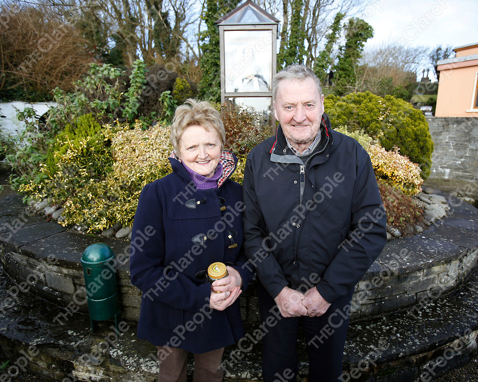 01/02/2013<br /> Mary Anne and John Corry pictured at St Brigid&Otilde;s Well at Liscannor, Co. Clare on St Brigid&Otilde;s Day.<br /> Picture: Don Moloney / Press 22<br /> 01/02/2013<br /> Mary Anne and John Corry pictured at St Brigid&rsquo;s Well at Liscannor, Co. Clare on St Brigid&rsquo;s Day.<br /> Picture: Don Moloney / Press 22