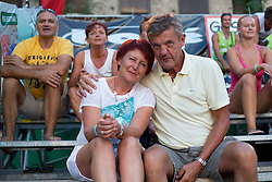 Parents of Jernej Potocnik at tournament for Slovenian national championship - Drzavno prvenstvo Kranj 2013 on July 26, 2013, in Kranj, Slovenia. (Photo by Matic Klansek Velej / Sportida)