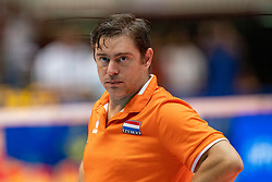 04-08-2019 ITA: FIVB Tokyo Volleyball Qualification 2019 / Netherlands, - Italy Catania<br /> last match pool F in hall Pala Catania between Netherlands - Italy for the Olympic ticket. Italy win 3-0 and take the ticket to the Olympics / Ass coach Alessandro Beltrami of Netherlands