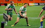 Jayden Spence in action for Manawatu in the ITM Cup Rugby Match. Otago v Manawatu at Forsyth Barr Stadium, Dunedin, New Zealand. Friday 10 October 2014. New Zealand. Photo: Richard Hood/photosport.co.nz