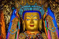 Buddha statue, Drepung Monastery, near Lhasa, TIbet (Xizang), China.