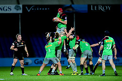 Harlequins win the line out - Mandatory by-line: Ryan Hiscott/JMP - 25/11/2019 - RUGBY - Sandy Park - Exeter, England - Exeter Braves v Harlequins - Premiership Rugby Shield