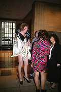 Grayson Perry and Kathy Lette ICA 60: PECHA KUCHA. Fundraiser for the Institute of Contemporary Arts. Florence Hall, RIBA, 66 Portland Place, London. 17 May 2007. -DO NOT ARCHIVE-© Copyright Photograph by Dafydd Jones. 248 Clapham Rd. London SW9 0PZ. Tel 0207 820 0771. www.dafjones.com.