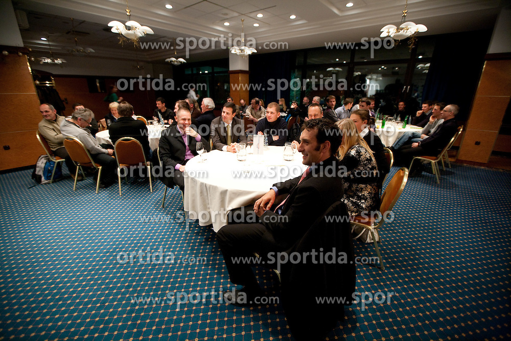 Denis Zvegelj during the Slovenia's Rower of the year award ceremony by Rowing Federation of Slovenia, on December 17, 2010 in Hotel Golf, Bled, Slovenia.   (Photo By Vid Ponikvar / Sportida.com)