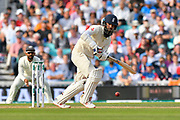 Moeen Ali of England batting during day 3 of the 5th test match of the International Test Match 2018 match between England and India at the Oval, London, United Kingdom on 9 September 2018.