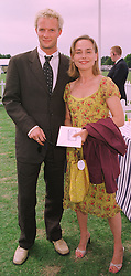 Actress TARA FITZGERALD and MR RUPERT PENRY-JONES at a polo match in Berkshire on 26th July 1998.MJG 19