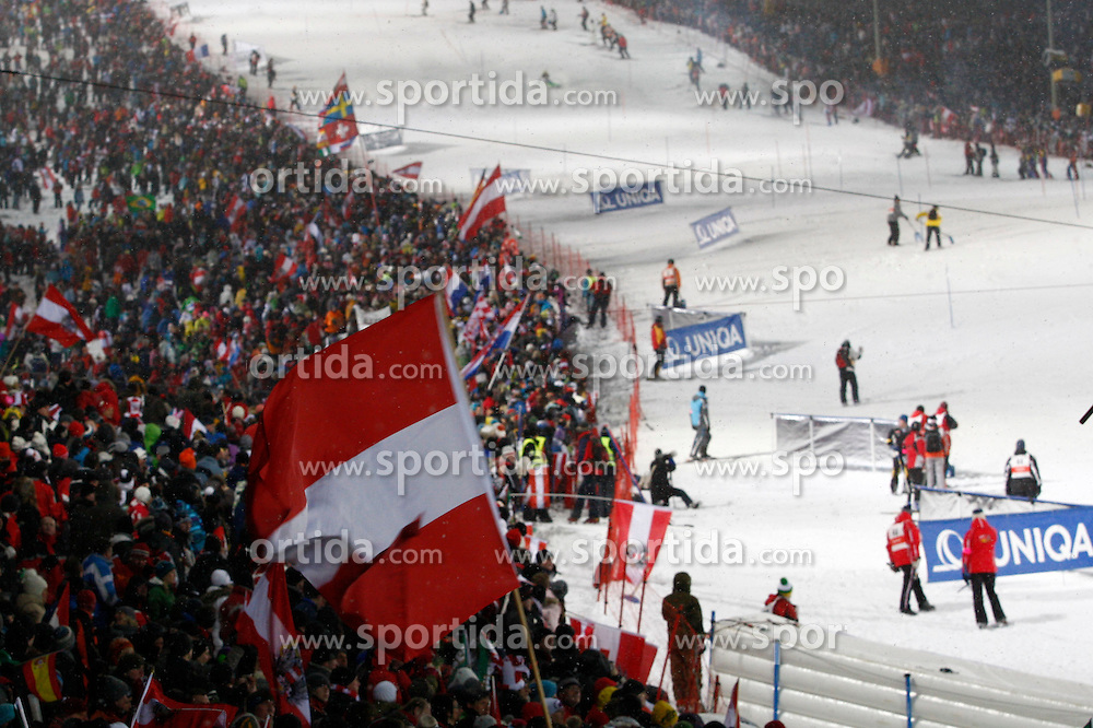 25.01.2011, Planai, Schladming, AUT, FIS World Cup Ski Alpin, Men, Slalom, im Bild // Fans an der Planai // during the men night slalom race at the FIS Alpine skiing World cup in Schladming, EXPA Pictures © 2011, PhotoCredit: EXPA/E. Scheriau