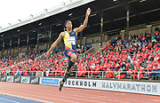 Juan Miguel Echevarria (CUB) places second in the long jump at 6-7 3/4 (8.12m) during the Bauhaus-Galan in a IAAF Diamond League meet at Stockholm Stadium in Stockholm, Sweden on Thursday, May 30, 2019. (Jiro Mochizuki/Image of Sport)