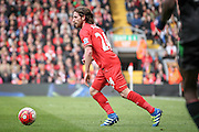 Joe Allen (Liverpool) during the Barclays Premier League match between Liverpool and Stoke City at Anfield, Liverpool, England on 10 April 2016. Photo by Mark P Doherty.