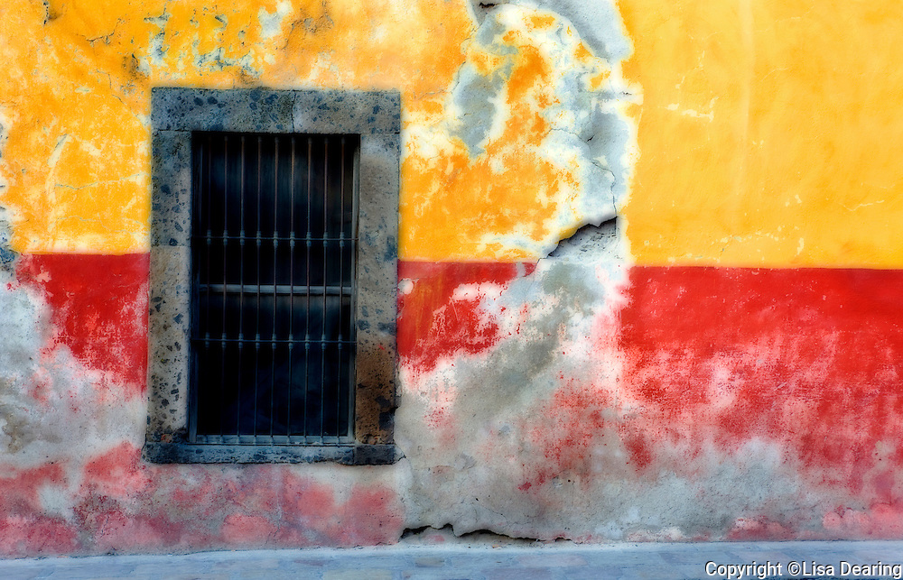 Window near Bus Stop, San Miguel de Allende, Mexico