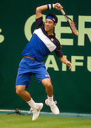 Kei Nishikori (JPN)<br /> <br /> Tennis - Gerry Weber Open - ATP 500 -  Gerry Weber Stadion - Halle / Westf. - Nordrhein Westfalen - Germany  - 19 June 2015. <br /> &copy; Juergen Hasenkopf