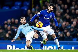 Andre Gomes of Everton takes on Bernardo Silva of Manchester City - Mandatory by-line: Robbie Stephenson/JMP - 06/02/2019 - FOOTBALL - Goodison Park - Liverpool, England - Everton v Manchester City - Premier League